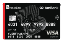 Credit card compare the best credit cards deals in malaysia ambank bonuslink visa signature reheart Choice Image