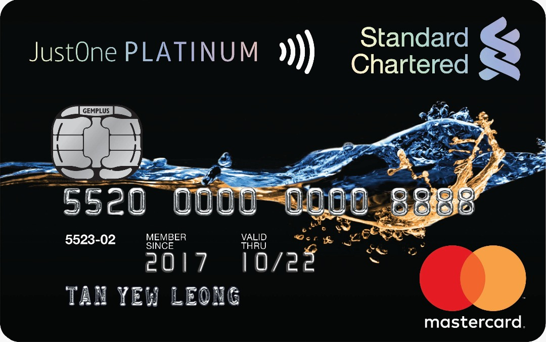Compare all 2018 standard chartered credit cards quick submission standard chartered justone platinum mastercard up to 15 cashback monthly for petrol auto bill payments and online purchases reheart Image collections