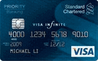 Standard Chartered Priority Banking Visa Infinite Credit Card